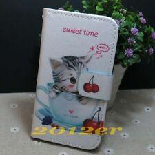 1x Lovely Little Cat Wallet Holder flip case cover for Various Mobile phone