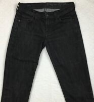 Citizens Of Humanity Straight Leg Black Jeans Size 25 Low Waist Ava #142 Stretch