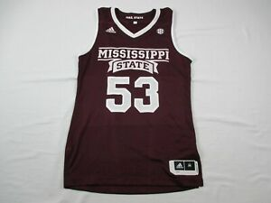 Mississippi State Bulldogs adidas Jersey Men's Maroon Poly Used Multiple Sizes