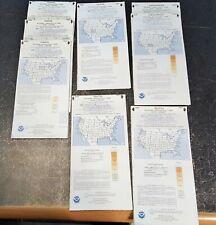 Vintage Us Aeronautical Charts~Omaha~Denver~Seatt le~Albuquerque~1980's Lot of 8