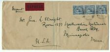 1932 Forest Rd Sussex England to Minneapolis Mn, Strip Three 2 1/2d Kgv, Express