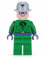 Lego Minifigure - -Riddler w Bowler Hat & Red Crowbar Super Heroes Batman - 6857
