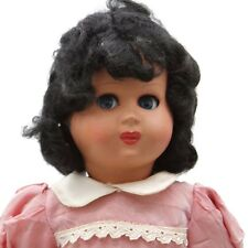 "Vintage Ca. 1960s Athena Italy Hard Plastic Flirty Eyed Girl Doll Marked 13"""