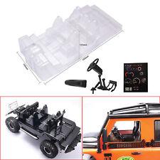 DIY Car Transparent Interior Body Case Decor for Traxxas Trx4 Defender D110 RC