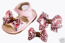 Set of 3 Animal Print Shoe Bows & Hair Bow CUTE! NEW!