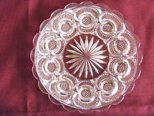 EAPG Higbee Glass Diamond Point Discs Crescent Martinsville plate