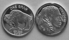 1 Gram .999 PURE SILVER DESIGN OF THE BUFFALO NICKEL AKA INDIAN