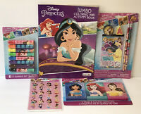 5 Pc Disney Princess Coloring Activity Books 3pk Crayons Activity Fun Set & More