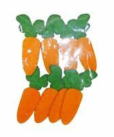 New Bright Easter Felt Soft Carrots Decorations Arts Craft Supplies x1 8pcs
