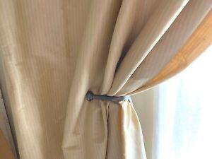 RH Restoration Hardware ESTATE two curtain drape tieback antiqued nickel
