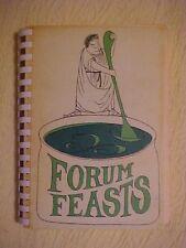 1974 FUNDRAISING COOKBOOK,  FORUM FEASTS, WALDWICK NJ ELITE School 14th Printing