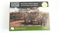 ALLIED M4A1 76mm WET STOWAGE SHERMAN: Plastic Soldier World War 2 boxed 15mm kit