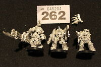 Games Workshop Warhammer 40k Chaos Space Marines Terminators x3 Metal Squad OOP