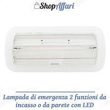 LAMPADA EMERGENZA NEON INCASSO 6W 100LM LED DI STATO LUCE DI EMERGENZA DA PARETE