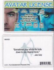 AVATAR LICENSE Jake Sully aka Sam Worthington Drivers License fake i.d. card