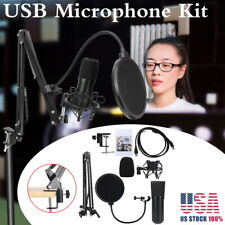 Professional Podcast Set Streaming Microphone Mic For Studio Speaking Condenser