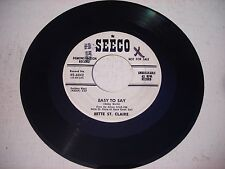 PROMO Bette St. Claire Easy to Say / Ah Sweet Mystery of Life 1960 45rpm