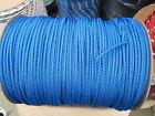"Gaff Hook Line,Diamond Braid 5/32"" X 50' BLUE POLYESTER ROPE MADE USA"