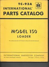 Original 1964 International Ihc 150 Crawler Track Loader Parts Catalog Manual