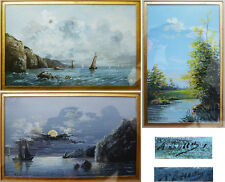 6 petites peintures paysages signées BENOS vers 1910