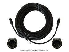 PTZOptics VISCA-50 Cascade Mini-DIN 8PIN MALE-MALE Plenum White Cable/50ft