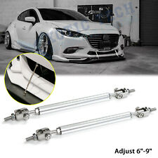 "For Mazda 3 Adjust 6""-9"" Front Bumper Support Racing Diffuser Lip Strut Rod Bars"