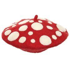 Adult Red Mushroom Head Fungi Mario Toad Fairy Halloween Costume Hat Accessory