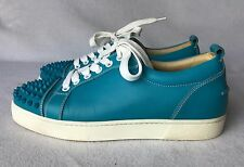 Christian Louboutin Louis Spikes Junior Womens Turquoise Sneakers Euro 38