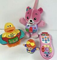Vtech Electronic Learning Toys Lot of 4 Remote Bear Duck Kaylee All Working