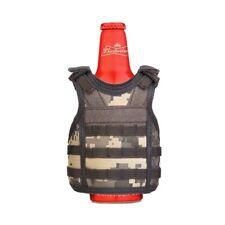 Military Tactical Mini Vest Soda Beer Bottle Coozie Coolie Koozie - ACU