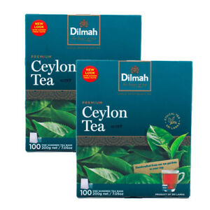 Dilmah Premium Single Origin 100% Pure Ceylon Tea - 100 Bags x 02 packs