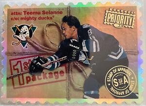 1997-98 Donruss Priority Stamp of Approval #187 Teemu Selanne 22/100 Rare HOF