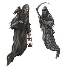 5ft Hooded Ghoul Grim Reaper Halloween Death Ghost Scythe Cemetery Scene Setter
