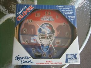New York Rangers Quartz clock 12 inches round NIB