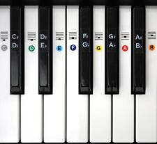 Piano Keyboard Note Key Stickers Reusable Music Learn for 49 61 76 88 Keys Gift