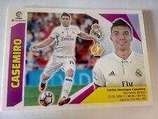 Cromo futbol CASEMIRO REAL MADRID nº 8liga 2017 2018 panini este faltas