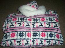 Damas Navidad Renos & Copo De Nieve Todo en Uno Pijamas Size UK 8-10 Nuevo