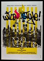 Manifesto Wild Style Charlie Ahearn Hip Hop Grandmaster Flash Fab Freddy M287