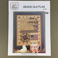 Grand Old Flag patriotic cross stitch chart Rosewood Manor stars quilt America