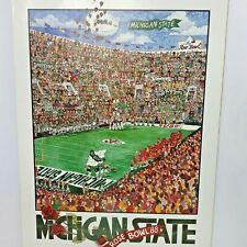 Michigan State John Holladay Rose Bowl Poster 1988 Spartans College Football USC