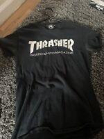Thrasher OG Logo T-Shirt Men's Size Small Black Skateboard