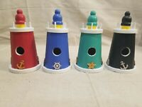Decorative Hand Painted Mini Wooden Lighthouse Birdhouse Indoor or Outdoor Decor