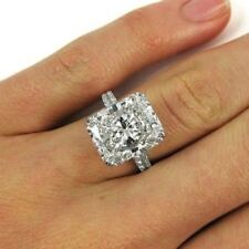 Awesome 2.65Ct White Radiant Cut Certified 14K GOLD Engagement & Wedding Ring.