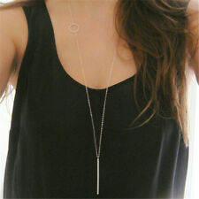 Elegant Charm Simple Necklace Gold Plated Long Sweater Chain Pendant Jewelry