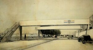 Architectural Rendering Drawing Bridge Pedestrian Walkway Art Deco New York 1939