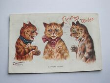 More details for loius wain postcard 1909 cats christmas wishes