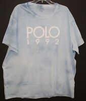 Polo Ralph Lauren Mens Blue POLO 1992 Tie-Dye Crewneck T-Shirt NWT Size 2XL XXL