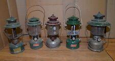 5 Coleman & AGM gas lantern collectible hunting fishing camping parts repair lot