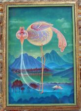 PHILIP KIRKLAND PAINTING SURREAL ETHEREAL 1970'S VISIONARY ABSTRACT CALIFORNIA