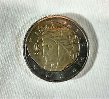 rare italian 2 euro coin from 2012 with printing error - fried egg coin